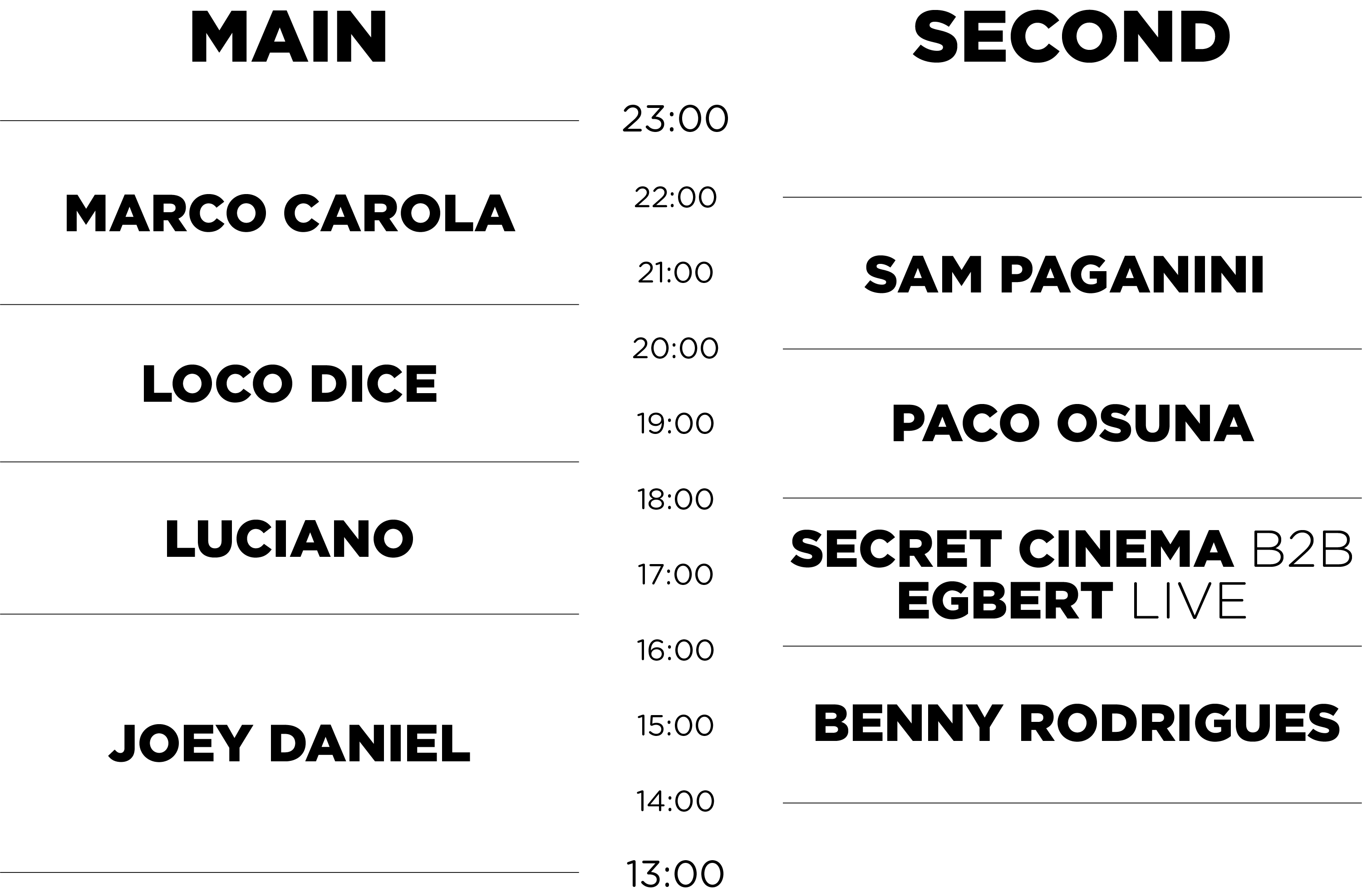 Timetable-website-sunday Music On lo tiene todo listo para su cita de Amsterdam