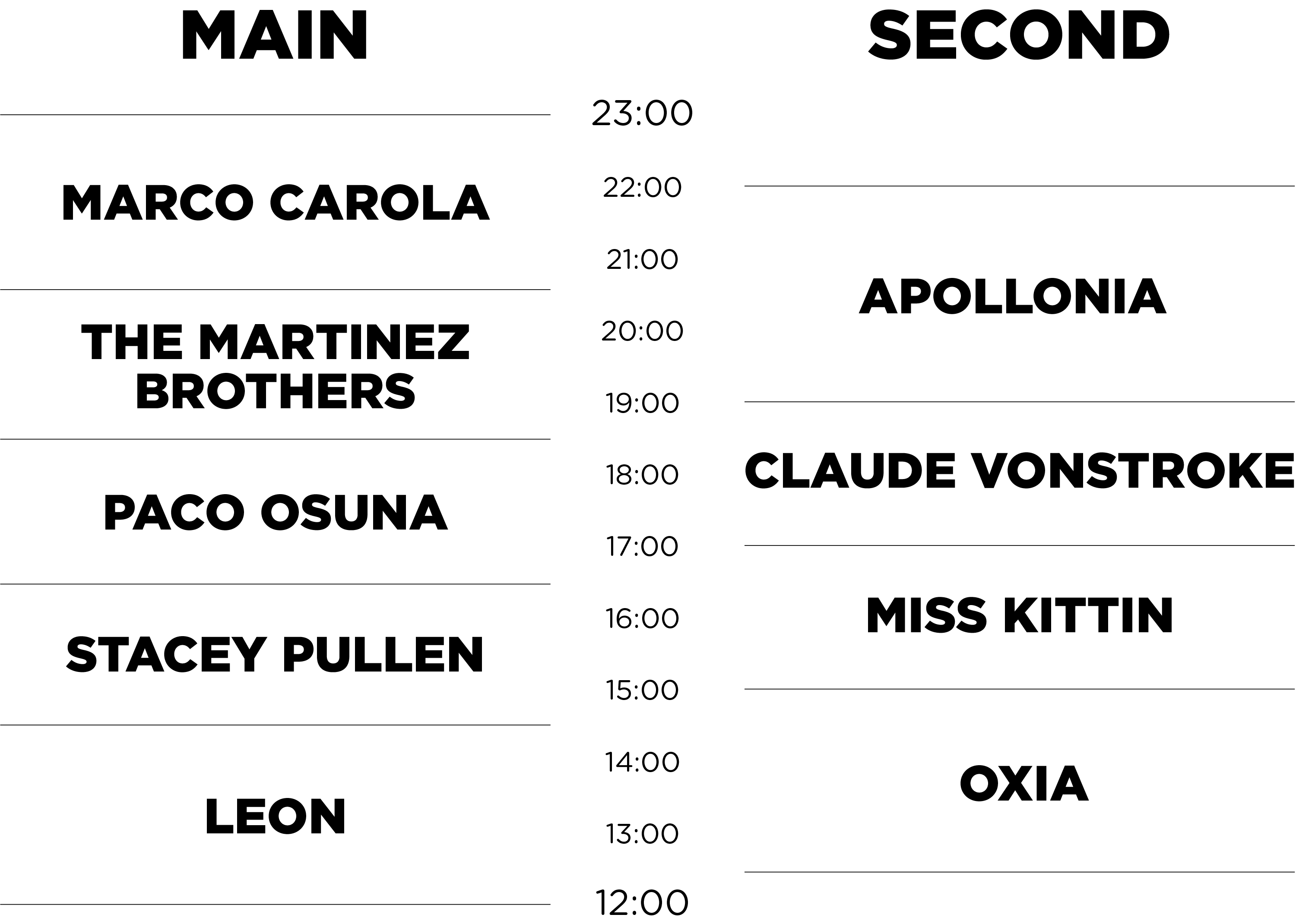 Timetable-website Music On lo tiene todo listo para su cita de Amsterdam