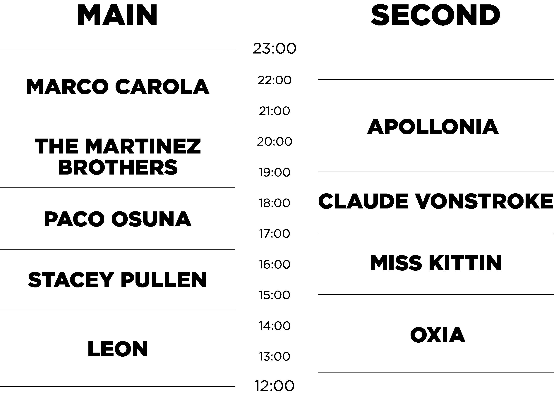 Timetable-website Music On lo tiene todo listo para su cita de Amsterdam